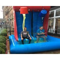 China Giant Inflatable Gunge Roulette Tank Commercial Pvc Smile Tank Game on sale