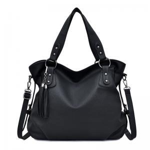 China Shoulder Faux Zipper Ladies Designer Handbags With Tassel wholesale