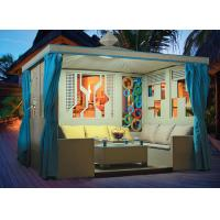 China China leisure furniture outdoor pavilion with sofa garden rattan tents 1110 wholesale