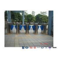 Quality High End Flap Barrier Gate / Flap Barrier Turnstile Attendance For Entrance Control for sale
