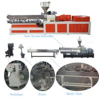 China Color Masterbatch Twin Screw Extruder , Pvc Extruder Machine Water Strand Cutting System on sale