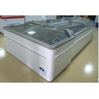 China Commercial Island Freezer -20°C - 18°C , Supermarket Island Freezer With Sliding Glass Door wholesale