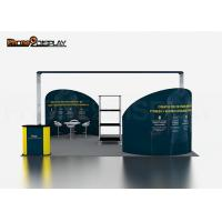 China Tension Fabric Exhibition Booth Stand , 20x20FT Trade Show Display Stands on sale