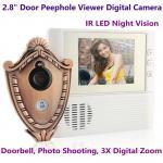 "China 2.8"" LCD Screen Digital Door Peephole Viewer Camera IR LED Night Vision Home Security Door Eye Electronic Doorbell Alarm wholesale"