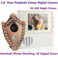 "Quality 2.8"" LCD Screen Digital Door Peephole Viewer Camera IR LED Night Vision Home Security Door Eye Electronic Doorbell Alarm for sale"