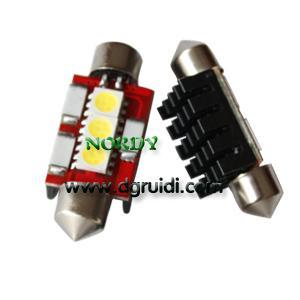 China Led Festoon canbus light 3SMD5050 No Error LED Bulbs 0.8W 12Vwhite yellow red blue green amber wholesale