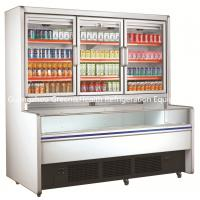 China Freestanding 3 Doors Commercial Beverage Display Refrigerator For Mall wholesale