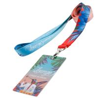 China 2018 cheap customized colorful polyester lanyard metal hook buckle cheap silk offset heat-transferring printing strap on sale