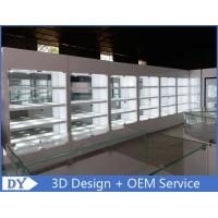 Buy cheap Fashion High Wooden Shelf Jewelers Showcase With Lights For Showroom Display from wholesalers