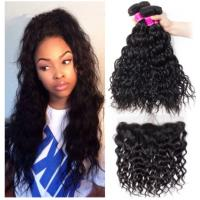 China Black Color Cambodian Virgin Hair / Natural Wave Hair Extensions No Shedding wholesale