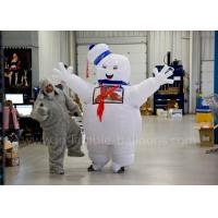 China Funny Inflatable Man Costume Inflatable Stay Puft Marshmallow Man Costume With Blower wholesale
