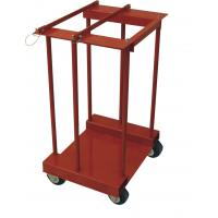 China 4 Gas Cylinder Pallet Rack , Easily Move Compressed Gas Bottle Rack With Caster wholesale