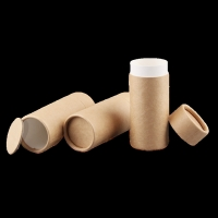 China Custom Round Sealing Lip Balm Paper Tube Box Deodorant Luxury Kraft candle Paper Tube Packaging For Cosmetic on sale