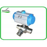Quality L Or T Type Sanitary Ball Valves Butt Weld For Chemical Fluids And Pharmacy for sale