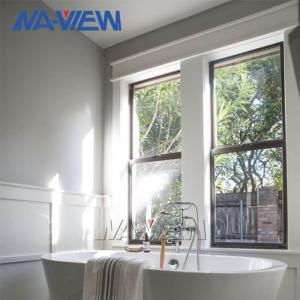 China Soundproof Superior Modern Aluminum Single Hung Sash Impact Windows With Grids wholesale