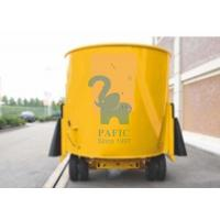 China Yellow Color Movable Upright Animal Feed Mixer Equipment For Rangeland wholesale
