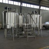 Quality Stainless Steel Brewhouse Equipment , 20HL Steam Heated Beer Fermentation Equipment for sale