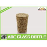 Buy cheap Wholesale wooden synthetic round small glass bottle wooden cork manufacturers, cork stopper from wholesalers