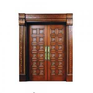 China customized solid wood door from Guangzhou door factory, double solid fir wood door wholesale