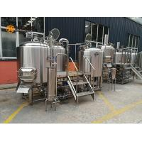Quality Three Vessels 1000L beer production Line 10HL Steam / Direct Fire Heating for sale