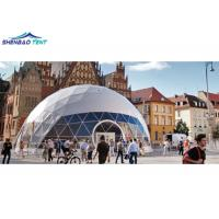 China 25m PVC Top Half Sphere Clear Dome Tent for Outdoor Event / Party / Wedding wholesale