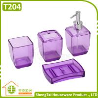 China Latest Fashion Design Transparent Color Plastic Bathroom Sets For Bathroom Decor wholesale