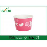 China Custom Print Ice Cream Paper Cups Disposable Salad Bowl With Lids on sale