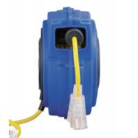 China Yellow 125V 40' Commercial Lighted Goodyear Hose Reel With Circuit Breaker wholesale