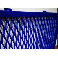 China Aluminum Expanded Metal Mesh For Cladding , Frame Expanded Metal Screen Facade on sale