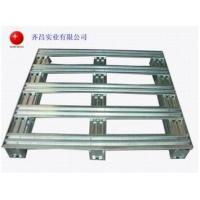 China Cleanable Metal Storage Galvanized Steel Pallets Logistics Equipment QC1218 wholesale