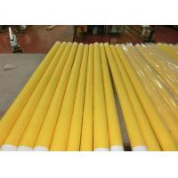 China Low Elongation Monofilament Polyester Screen Printing Mesh With White And Yellow wholesale