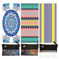 China Quick Drying Lightweight Fast Dry Oversized Printed Microfiber Beach Towel wholesale