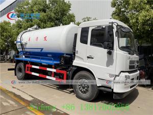 China 4X2 Dongfeng Vacuum Sewage Suction Truck With 10cbm Tank wholesale