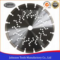 "China 9"" Laser welded Diamond Concrete Saw Blades 230mm with Cooling Holes wholesale"