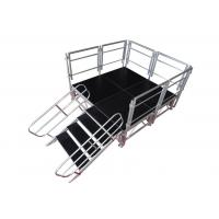 China Safety Aluminum Stage Platform / Stable Aluminum Stage Deck With Guardrail wholesale