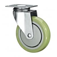 "China 5"" Polyurethane PU Caster Wheel Swivel For Case Carts And Utility Carts wholesale"