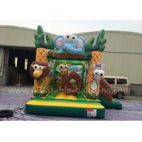 China 4m Small Forest Themed Inflatable Bouncing Castle Aafari Park With Blower wholesale