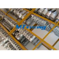 China ASME / ANSI B16.9 F51 / F53 S31803 / S32750 Duplex Steel Equal / Reducer Tee Pipe Fitting wholesale