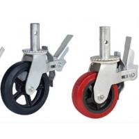 China Fexible adjustable PVC Rubber PA material bearing 350-420kg wheel caster wholesale