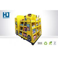China Truck Shape Cardboard Floor Display Stands Customized Size For Stationery / Toys wholesale
