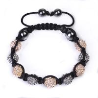 China Unique Design 12mm Shamballa Crystal Beaded Bracelets CJ-B-162 for Gift, Party, ornament wholesale