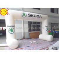 Buy cheap White Inflatable Start Finish Arch , Waterproof Inflatable Entrance Arch product