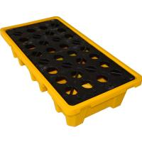 China Convenient 4 Drum / 2 Drum Spill Containment Pallet With Drain For Oil Drum wholesale