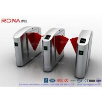 China Flap Barrier Gate TCP / IP Flap Turnstile Security Gate Access Control Wheelchair Lanes For Subway Doors wholesale