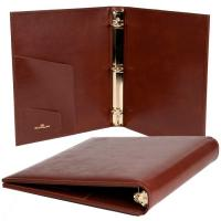 China leather book cover, leather ring binder on sale