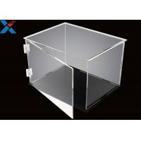 Rectangle Acrylic Display Box Open Door Assembled Clear Dust Storage Box