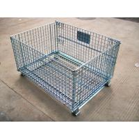 China Heavy Duty Galvanized Foldable Wire Mesh Pallet Cage With Cold Drawn Steel wholesale