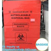 China Customized color biohazard medical waste drawstring bag drawtape bag, biohazard medical waste bags for clinical waste,ye wholesale