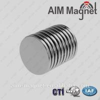 China 10mm dia x 0.5mm thick disk n42 strong magnet on sale