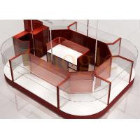China Round Shaped Jewelry Showcase Kiosk / Mall Jewelry Kiosk Wooden 3 Layers Glass Shelf wholesale
